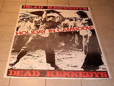 """DEAD KENNEDYS HOLIDAY IN CAMBODIA HUGE POSTER VINTAGE PUNK 38"""" x 53.5"""""""