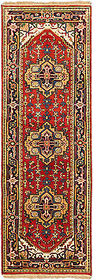 """Hand-knotted Carpet 2'6"""" x 7'7"""" Traditional Dark Copper Wool Runner Rug"""