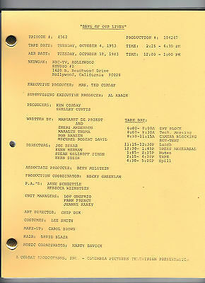 DAYS OF OUR LIVES show script #184247