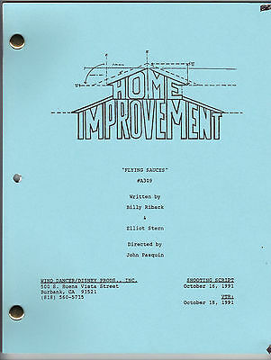 "HOME IMPROVEMENT show script ""Flying Sauces"""