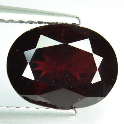 3.08 Cts Natural Pinkish Red Rhodolite Garnet Oval Mozambique (FREE SHIPPING)
