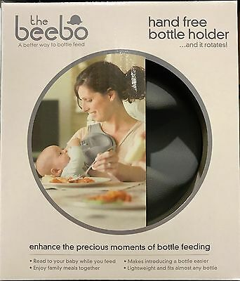Beebo Hands Free Rotating Baby Feeding Bottle Holder Teal / Pink / Charcoal NEW