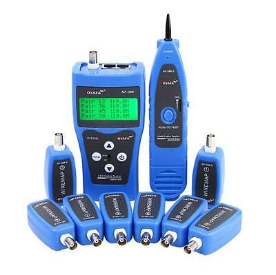 Network Cable Tester Tracker Tracer with 8 Far-end Jacks for Test Ethernet