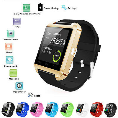 Bluetooth Smart Wrist Watch Phone Mate For IOS Android iPhone Samsung