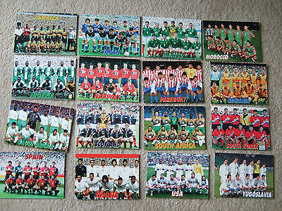 postcard fifa world cup france 1998 squad group/team paraguay