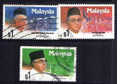 MALAYSIA 1991 PAST PRIME MINISTERS  used never hinged