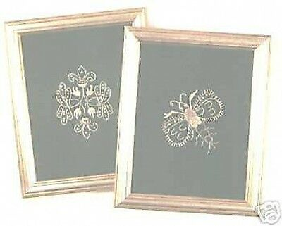"'Gold' Embroidery Kit DMC 2 Designs  3"" x 4"" Each"