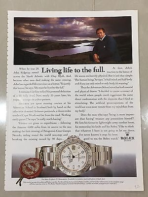 1990's ROLEX Watch A4 Colour Advert L11