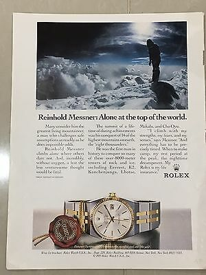 1990's ROLEX Watch A4 Colour Advert L29
