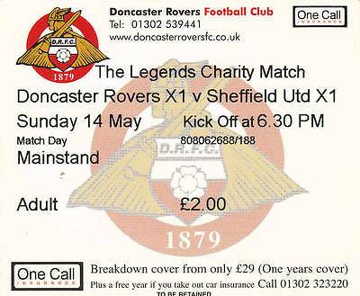 Ticket - Doncaster Rovers XI v Sheffield United XI - Legends Charity Match