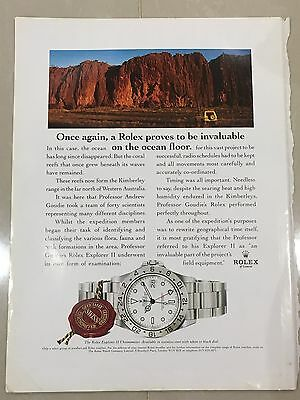 1990's ROLEX Watch A4 Colour Advert L43