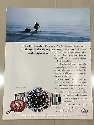 1990's ROLEX Watch A4 Colour Advert L46 - Sir Ranulph Fiennes