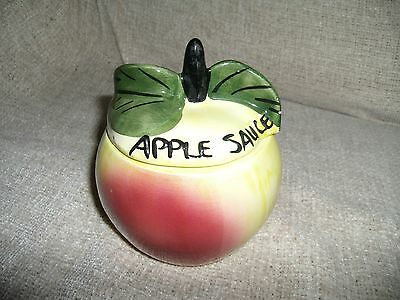Vintage Retro TONI RAYMOND Colourful Apple Sauce Lidded Pot