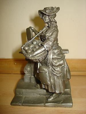 """The Playbill Seller Figurine """"Buy A Bill of The Play"""" © JP 77 Fine Pewter"""