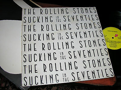 ROLLING STONES -   Sucking In The Seventies,  ORIG 1981 UK FIRST PRESS LP/ inner