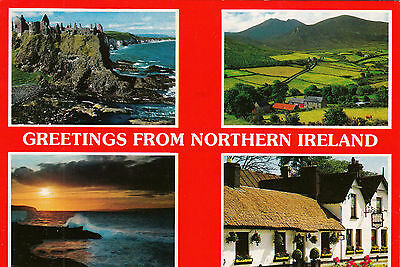 Postcard - Greetings from Northern Ireland - 4 views