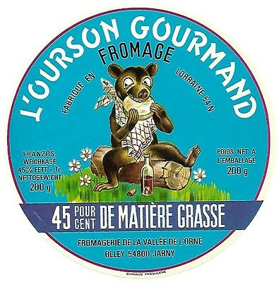 Etiq. L'ourson Gourmand Olley 54