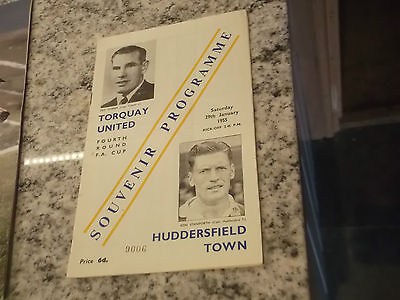 Torquay United V Huddersfield Town 1955 Fa Cup 4Th Round Replay Programme