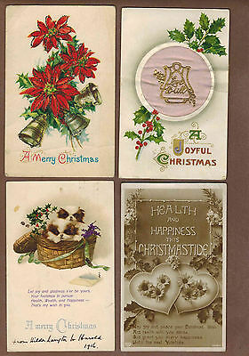 CHRISTMAS GREETINGS: Collection of Scarce Antique Postcards (1920)14D