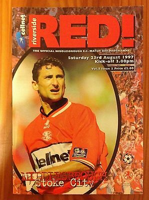 Middlesbrough v Stoke City 1997 Football Programme