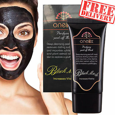 One1x Charcoal Black Face Mask Peel-off Mask Blackhead Acne Remover Facial 50ml