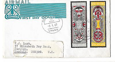 Papua New Guinea,, 1969 FOLKLORE,, clean illustrated FDC,,,