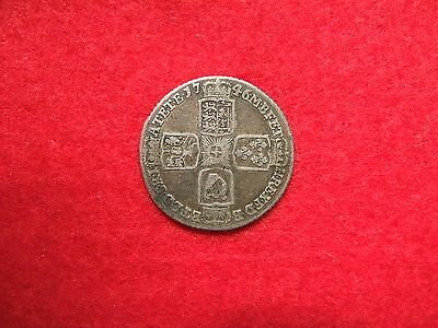 1746  'lima' King George Ii Silver Sixpence  Coin  ( Very Good Grade  )    'jg'