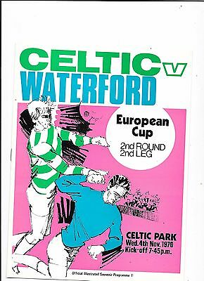Celtic v Waterford European Cup 4/11/1970