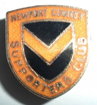 Old  (Mp)  Newport  County  Football  Supporters  Club  Enamel  Badge