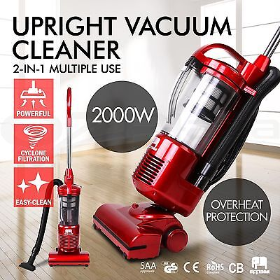 Effison Cyclonic Upright Vacuum Cleaner Bagless Cyclone HEPA Filter Red