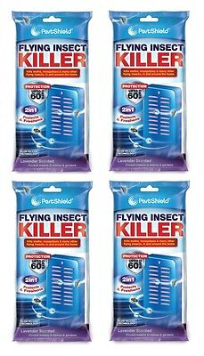 4 x 60 Day Flying Insect Killer Portable Indoor Outdoor Fly Moth and Mosquito