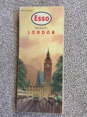 Esso Road Map No 1 London England From 1950's?