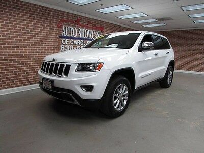 2014 Jeep Grand Cherokee Limited Sport Utility 4-Door 2014 JEEP GRAND CHEROKEE LIMITED V6 4X4 NAVI ROOF ONE OWNER LOW MILES WHITE