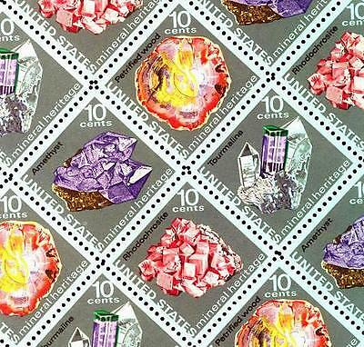 1974 - MINERALS - #1538-41 Full Mint -MNH- Sheet of 48 Postage Stamps