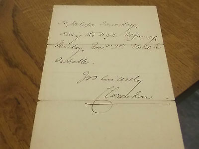 1902 Signed Letter By The 5Th Earl Of Clarendon  Politician