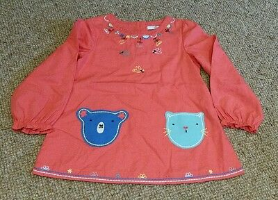 red tunic top M&S age 3-4 years