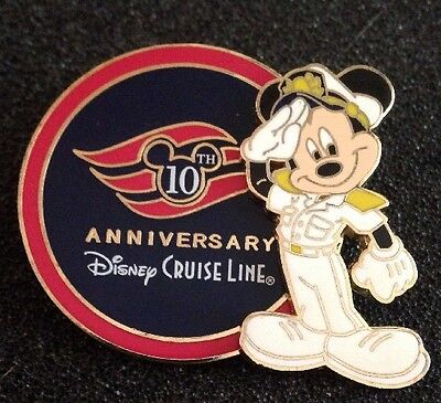 DISNEY PIN - DCL - 10th Anniversary - Captain Mickey