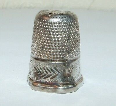 Antique Victorian Charles Horner Silver Thimble Chester 1900