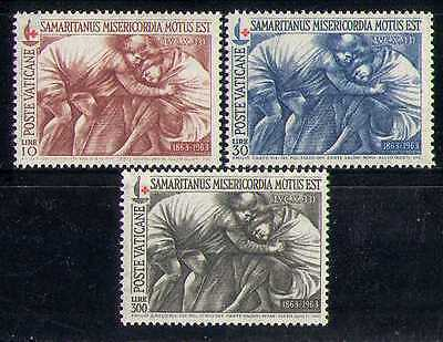 Vatican 1963 Red Cross/Medical/Health/Art/Painting 3v set n27726