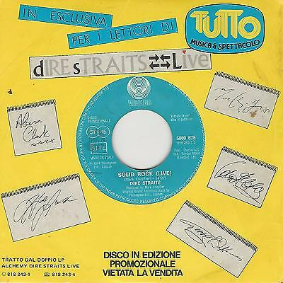 """DIRE STRAITS """" SOLID ROCK(Live) / TWO YOUNG LOVERS """"  7"""" PROMO TUTTO"""