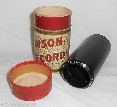 EDISON GOLD MOULDED PHONOGRAPH CYLINDER No.10022 THE HOLY CITY