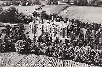 NO 41 - Scotland Postcard - Aerial View of Waverley Castle Hotel - Melrose - RP