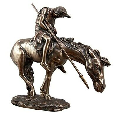 "The End of The Trail Indian Native Brave Hero Warrior On Horse 7.25"" Tall Figure"