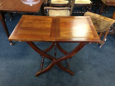 Antique Vintage Reproduction Flat-Packable Mahogany Coaching Table