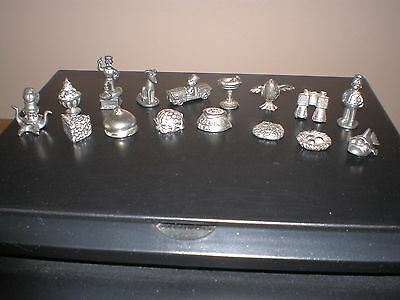 16 pc Lot of Monopoly Metal Movers/ Tokens Simpsons, Birdopoly, Chocopoly