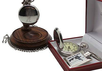 JOHNNY CASH Signed Autographed Pocket Watch Keyring and Wooden Display Stand