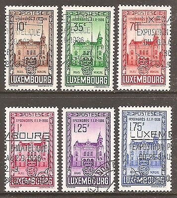 1936 Luxembourg Stamp Congress SG 347-352 Used (Cat £50)