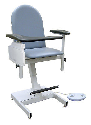 Power Designer Blood Drawing Chair Gray Utility Side Table, TB133