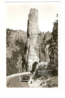 RPPC,The Traffic Cop on Needles Hiway in the Black Hills,Rise Photo #26