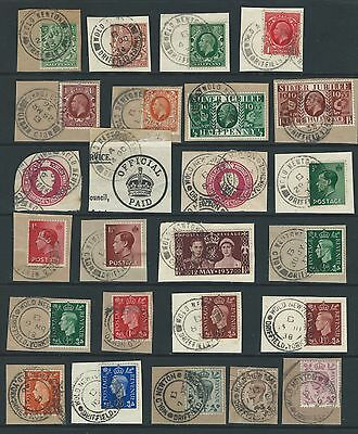 Yorkshire Village postmarks from Wold Newton 1933 - 1943